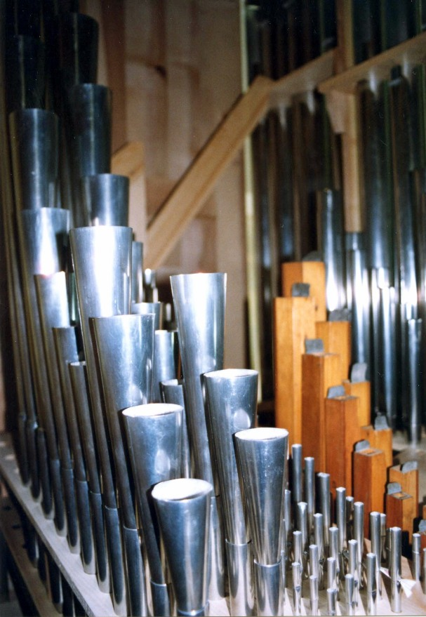 Tuyauterie du Grand-Orgue © S. Wernain, 2005.