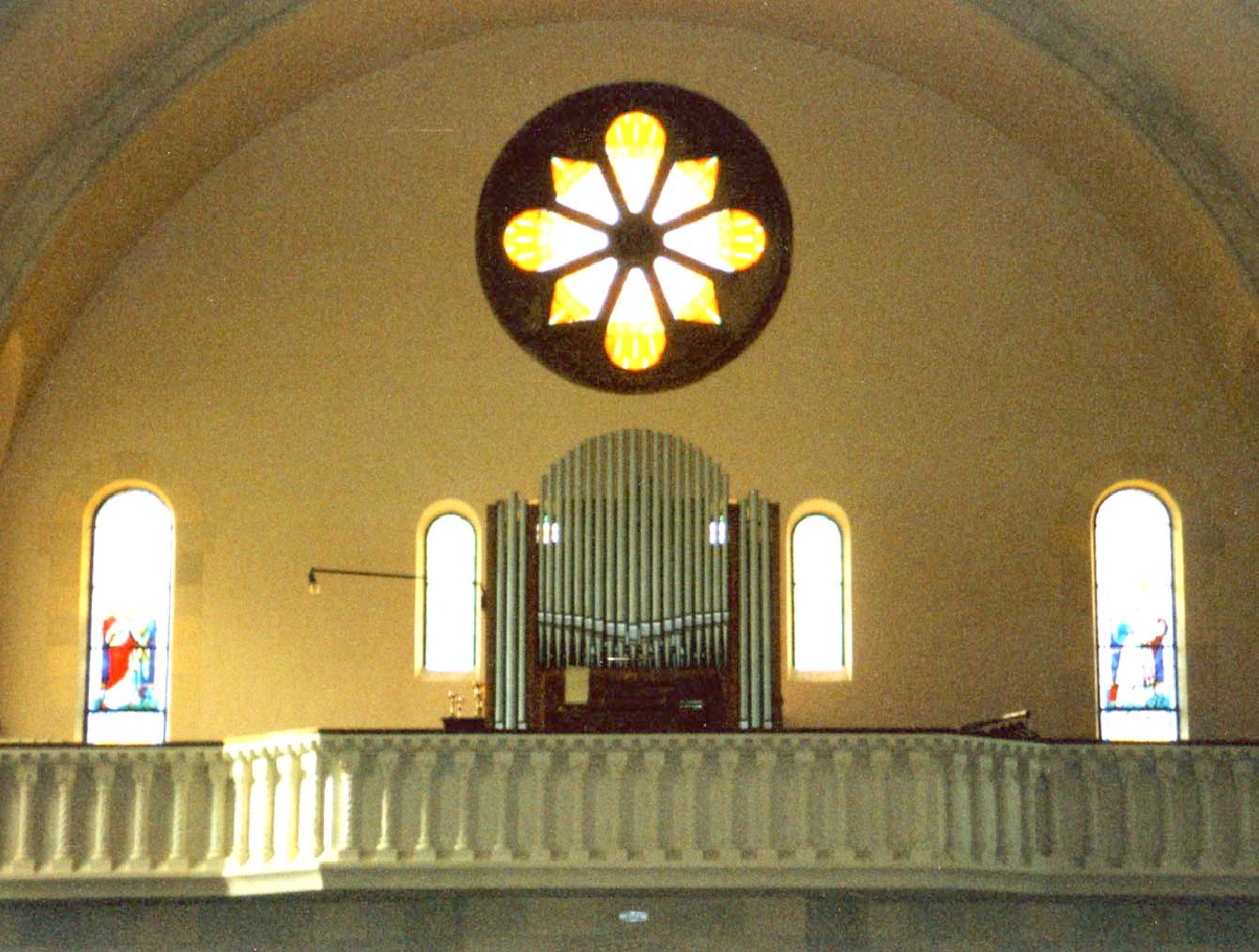 L'ancien orgue E-A Roethinger en 2003.